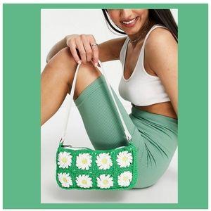 Boho Crochet Daisy Shoulder Bag